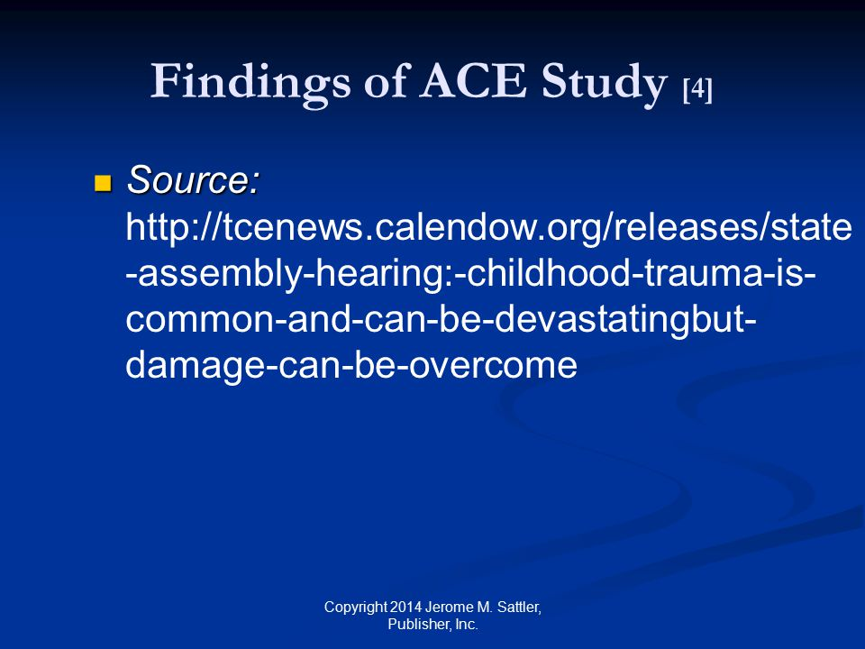 Findings of ACE Study [4]